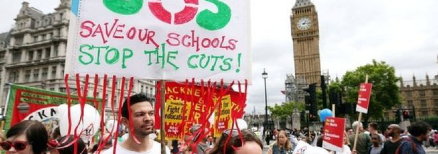 Head Teachers Protest At Downing Street Funding Rally